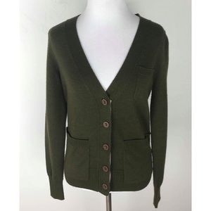 Madewell Wallace Olive Green Cardigan